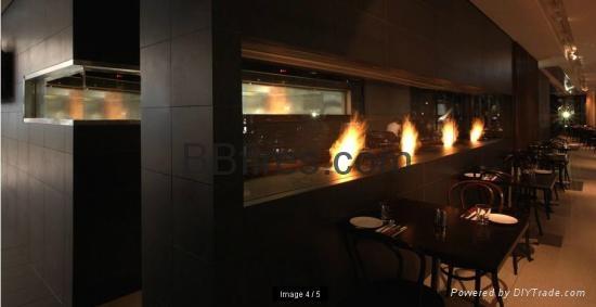 星级酒店智能低温酒精壁炉案例