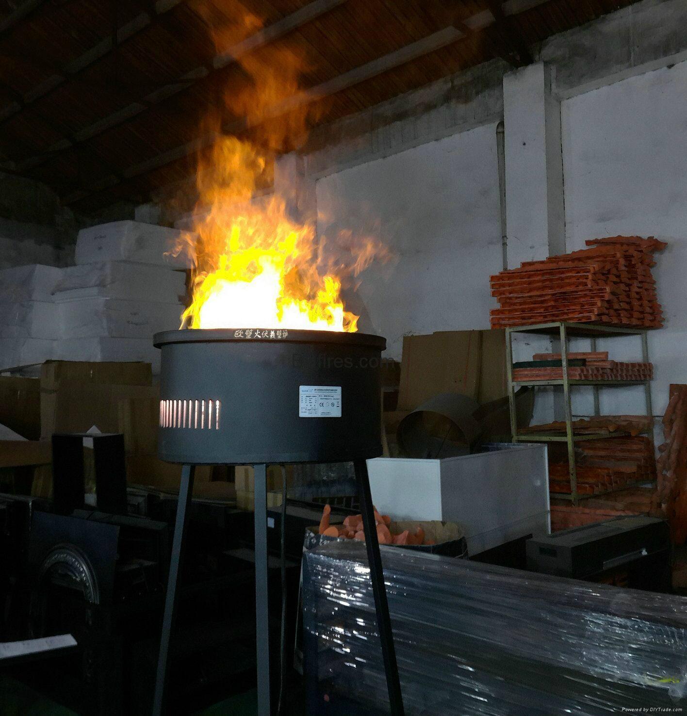 Real Fire Amp 3d Torch Burning Fireplace Al3011 Bb Hong