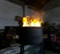 立体三维圆形电壁炉
