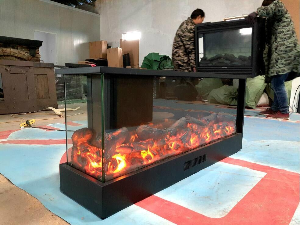 Riva Three faces electric fireplace  Job reference