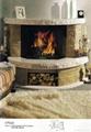 白沙米黄及大理石电壁炉