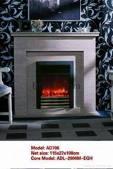 (現貨)白色木壁爐組合