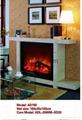 白色木壁炉组合 9