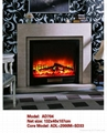 白色木壁炉组合 10