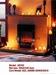 Stock White Wooden fireplace combination(Mantel and heater)