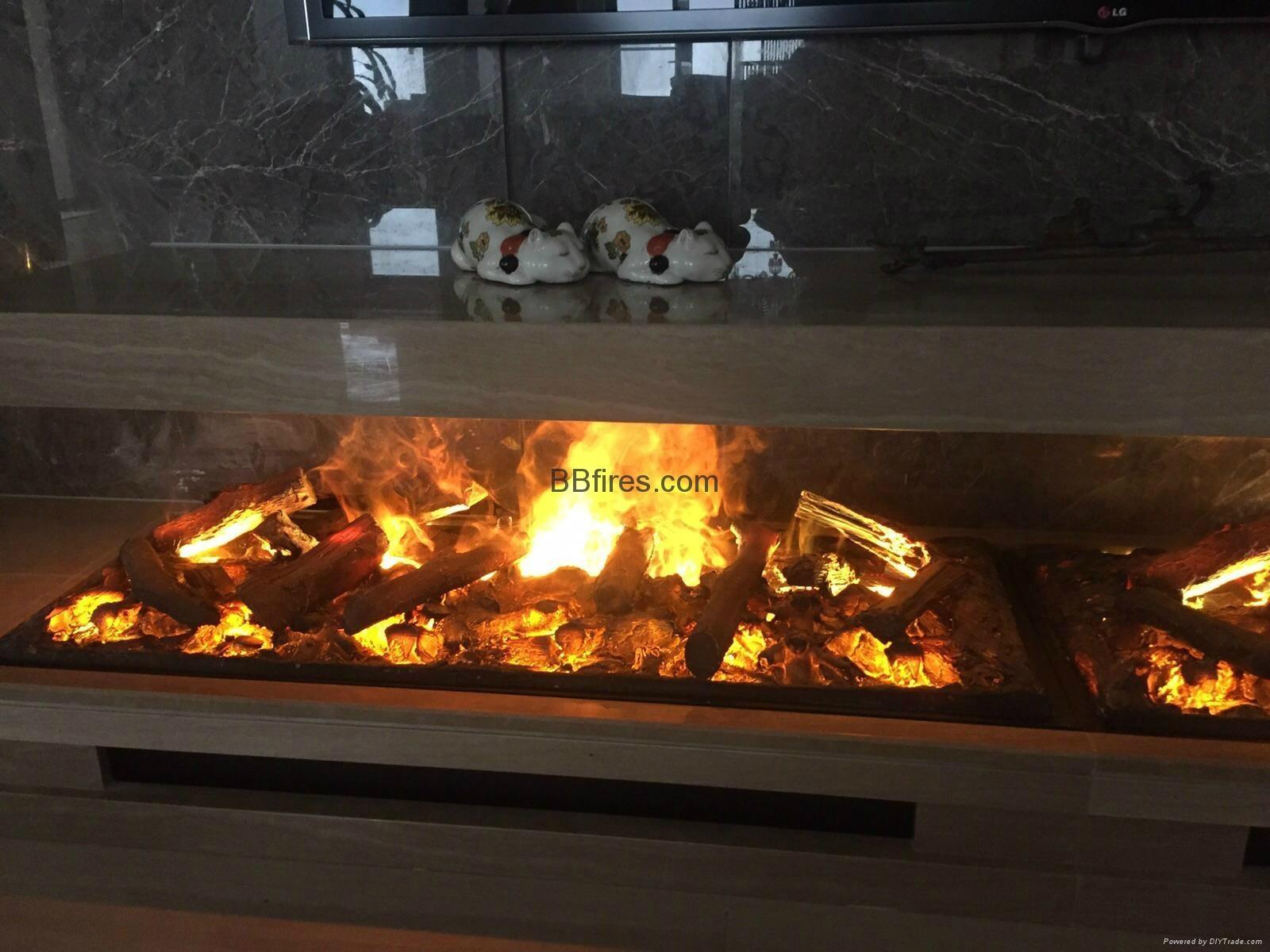 香港舂磡角BB 3D電壁爐取暖器真火壁爐洞口改造現場案例 13