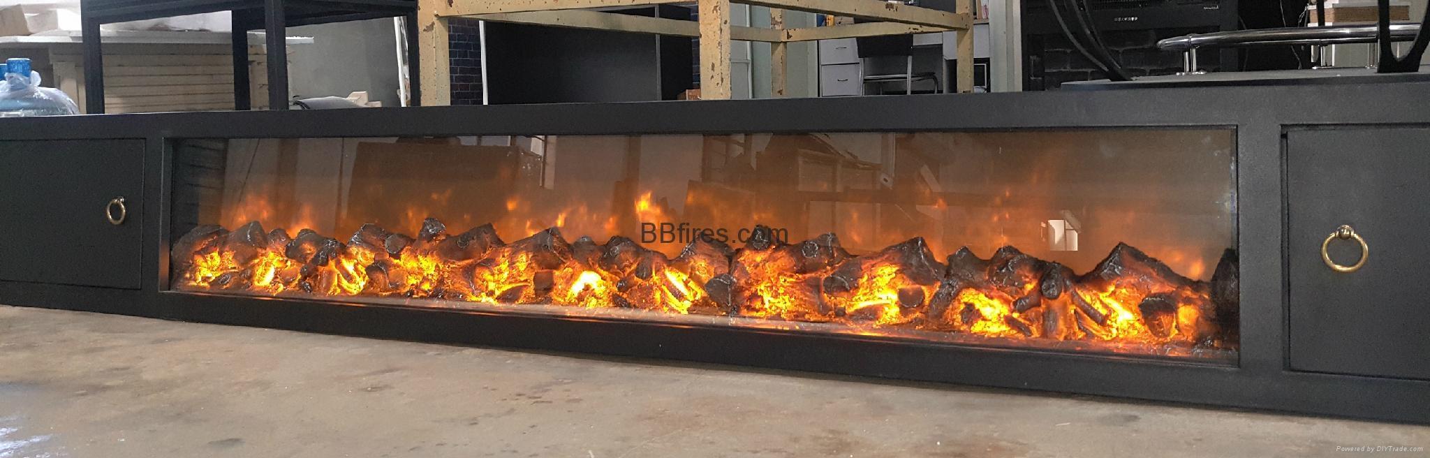 BB 嵌入式黄钛金壁炉电子壁炉 11