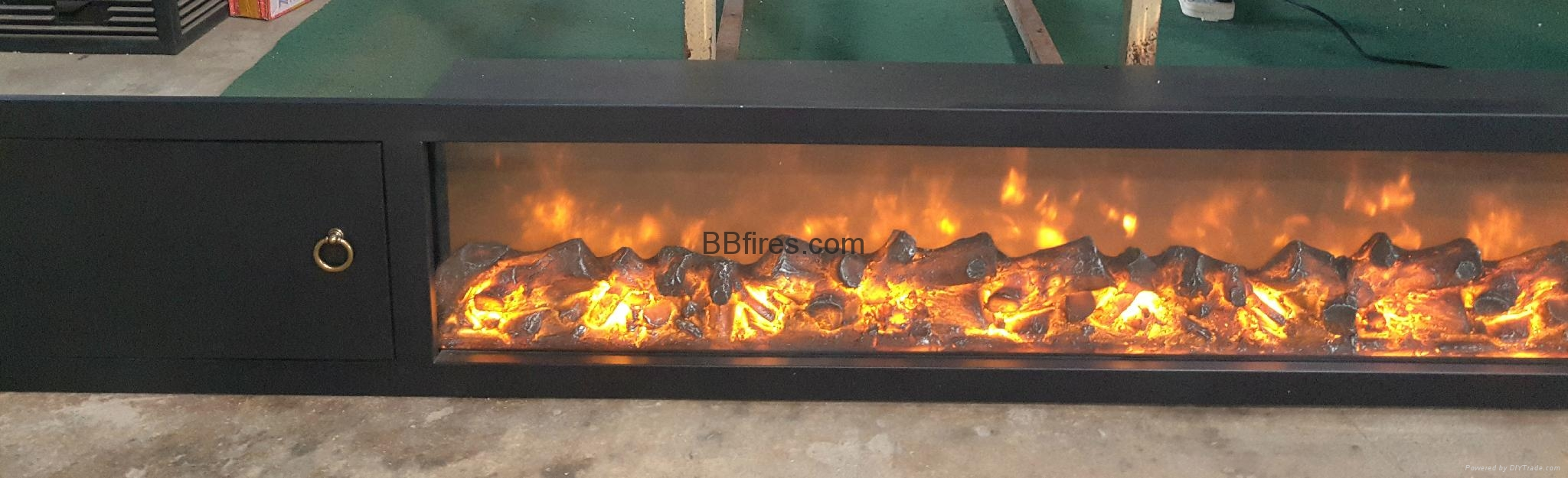 BB 嵌入式黄钛金壁炉电子壁炉 15
