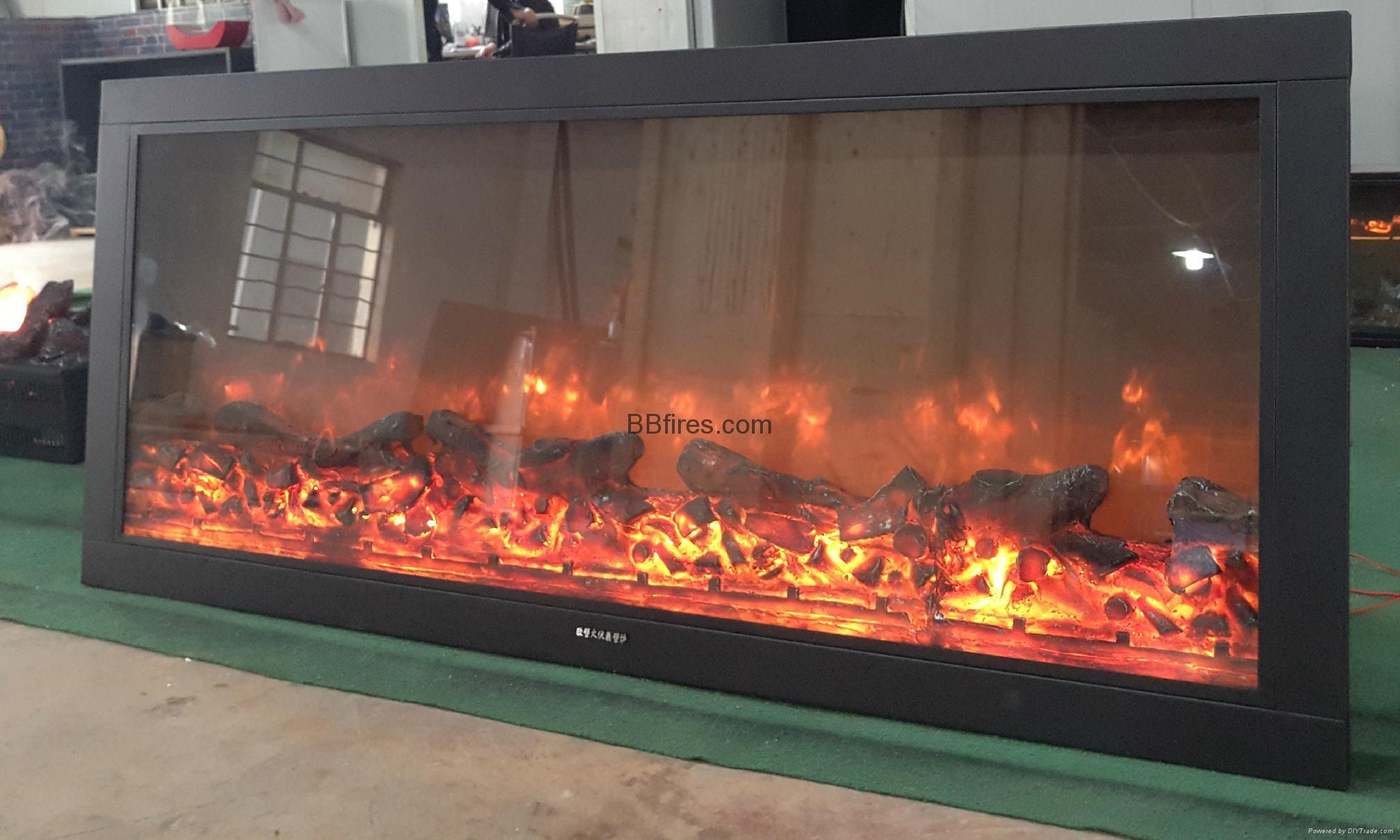 BB 嵌入式黄钛金壁炉电子壁炉 18