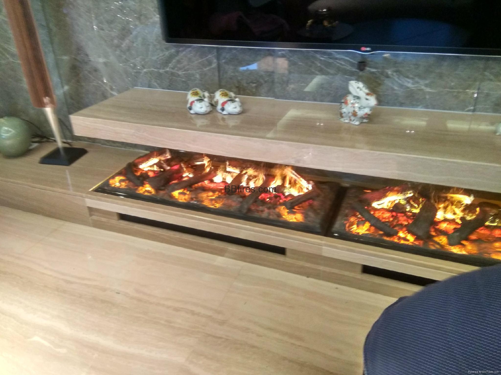 北角董事办工室3D新型立体壁炉工程 4