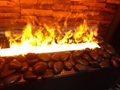 3D Black stone water fireplace