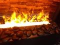 3D 黑色石头立体三维壁炉