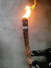 长73cm ,烧无烟酥油,燃烧半小时