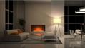 北角董事办工室3D新型立体壁炉工程 7