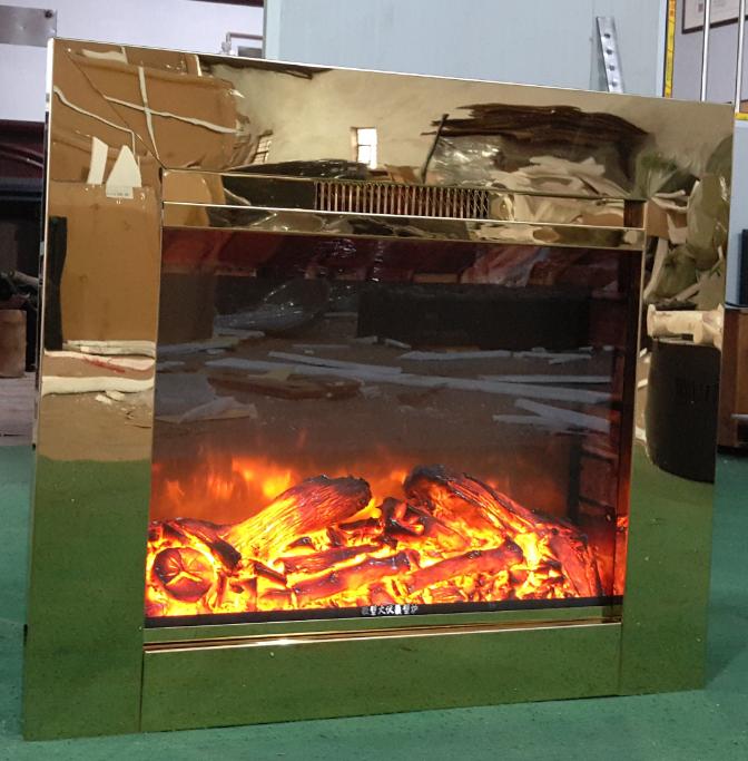 BB 嵌入式黄钛金壁炉电子壁炉 2