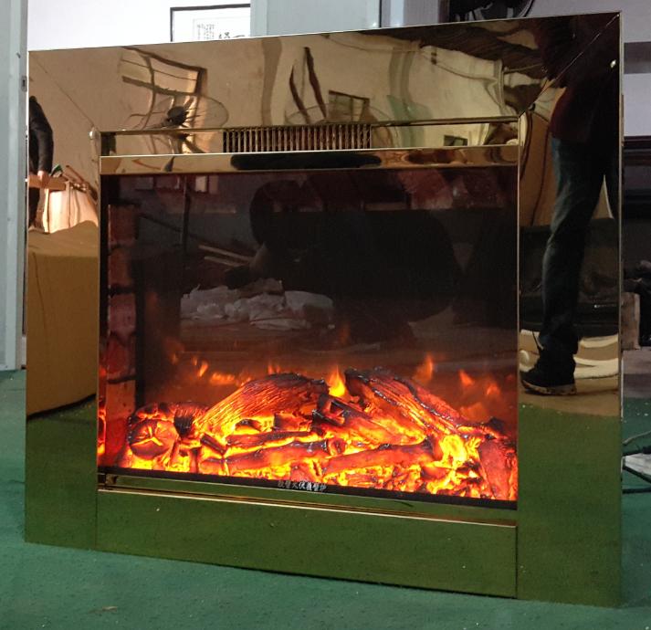 BB 嵌入式黄钛金壁炉电子壁炉 6