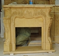 Stock White Wooden Fireplace set