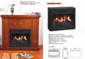 Stock Wooden fireplace (mantel and heater)TH