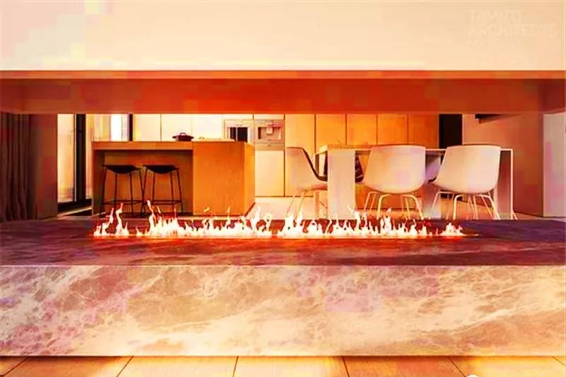 Luzern Boulevard, Kwu Tung  3D fireplace 4