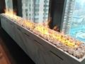 北角董事办工室3D新型立体壁炉工程 19