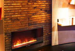 3D Bare finish water electric fireplace