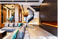 Custom Curved Electric Fireplaces The One 17