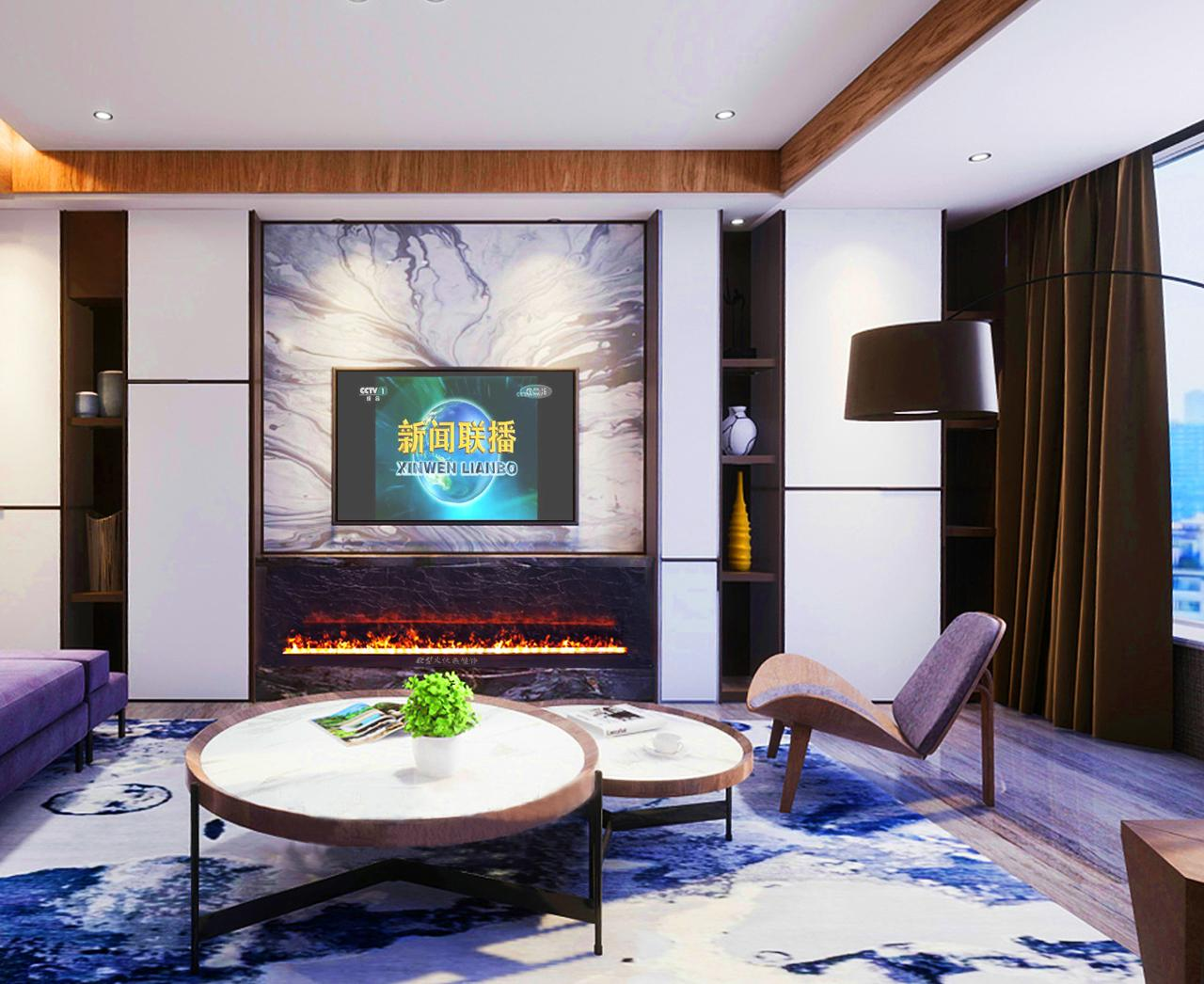 Custom Curved Electric Fireplaces The One 18