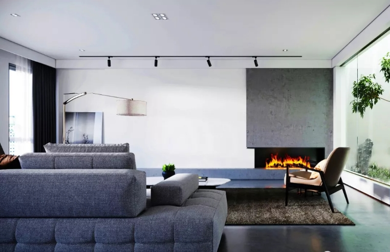 Custom Curved Electric Fireplaces The One 19