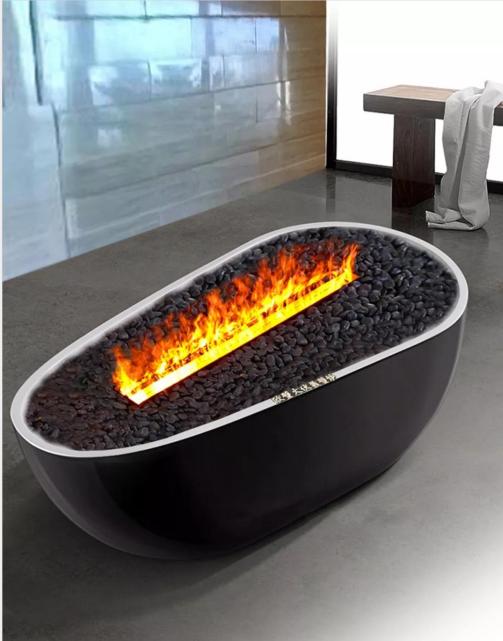 香港舂磡角BB 3D電壁爐取暖器真火壁爐洞口改造現場案例 14