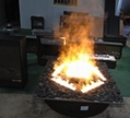 Custom made and pebbles electric fireplace heater