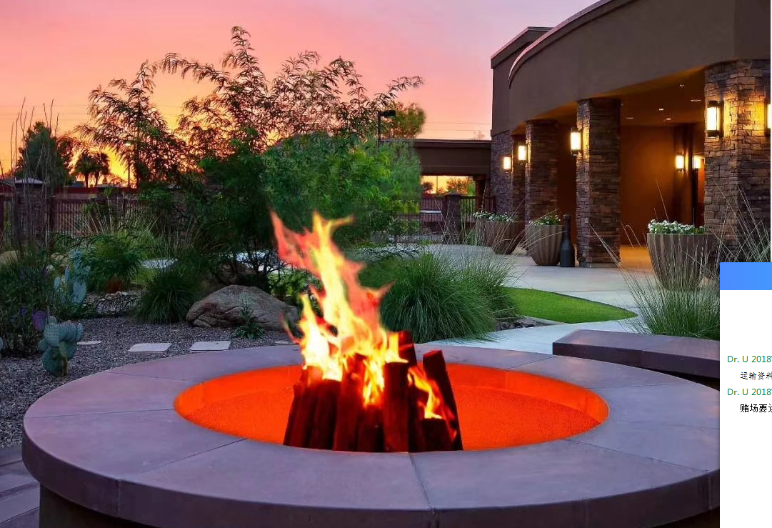 Outdoor 3D water vapour fireplaces Series