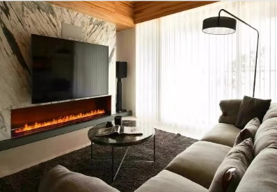3D Bare finish water electric fireplace 10