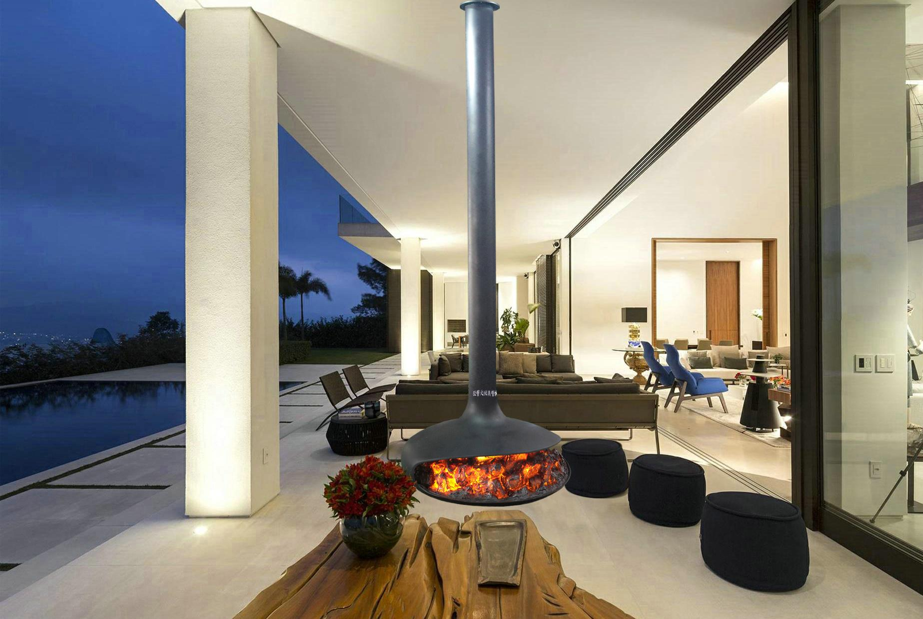 Outdoor 3D water vapour fireplaces Series 2