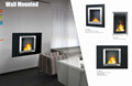 Stock wall mounted Bio Ethanol fireplace