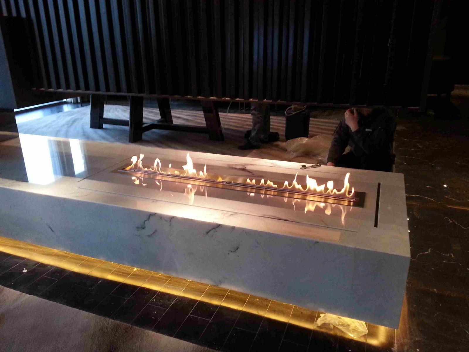 深圳君悦酒店真火的壁炉案例 9