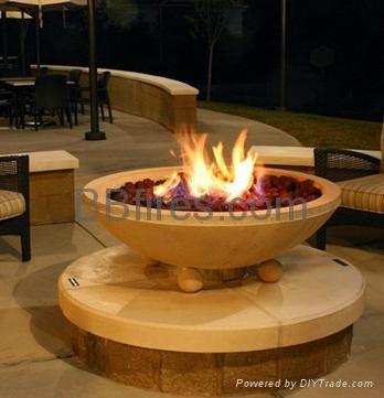 室外酒精火炬壁炉