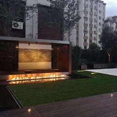 Latest 3D electric fireplace job reference outdoor