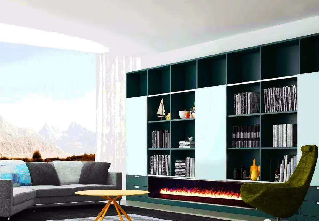 3D Bare finish water electric fireplace 15