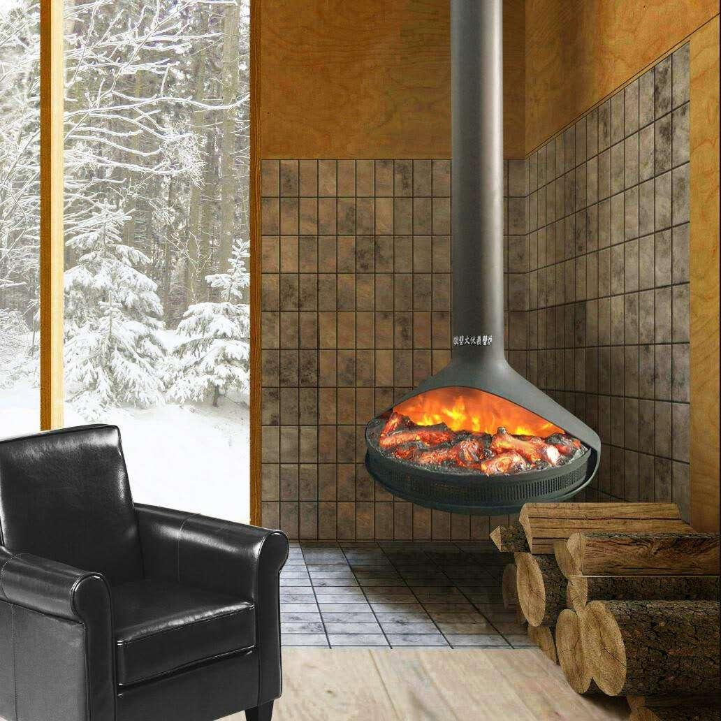 BB Curved Electric Fireplaces