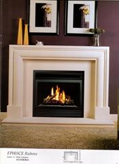 白色木壁爐組合