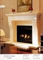 白色木壁炉组合