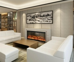 Wooden Fireplace+heater(mantel over 2 m)
