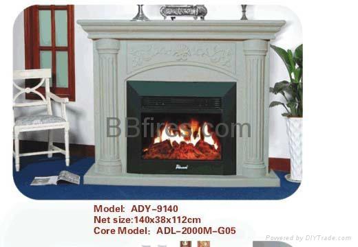 (現貨)白色木壁爐組合 8