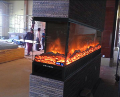 Double 3rd & 4th faces Electric Fireplace