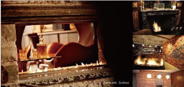 Intelligent Bio Ethanol fireplaces at BOC Bldg. 17