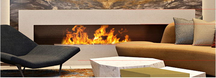 Luzern Boulevard, Kwu Tung  3D fireplace 3
