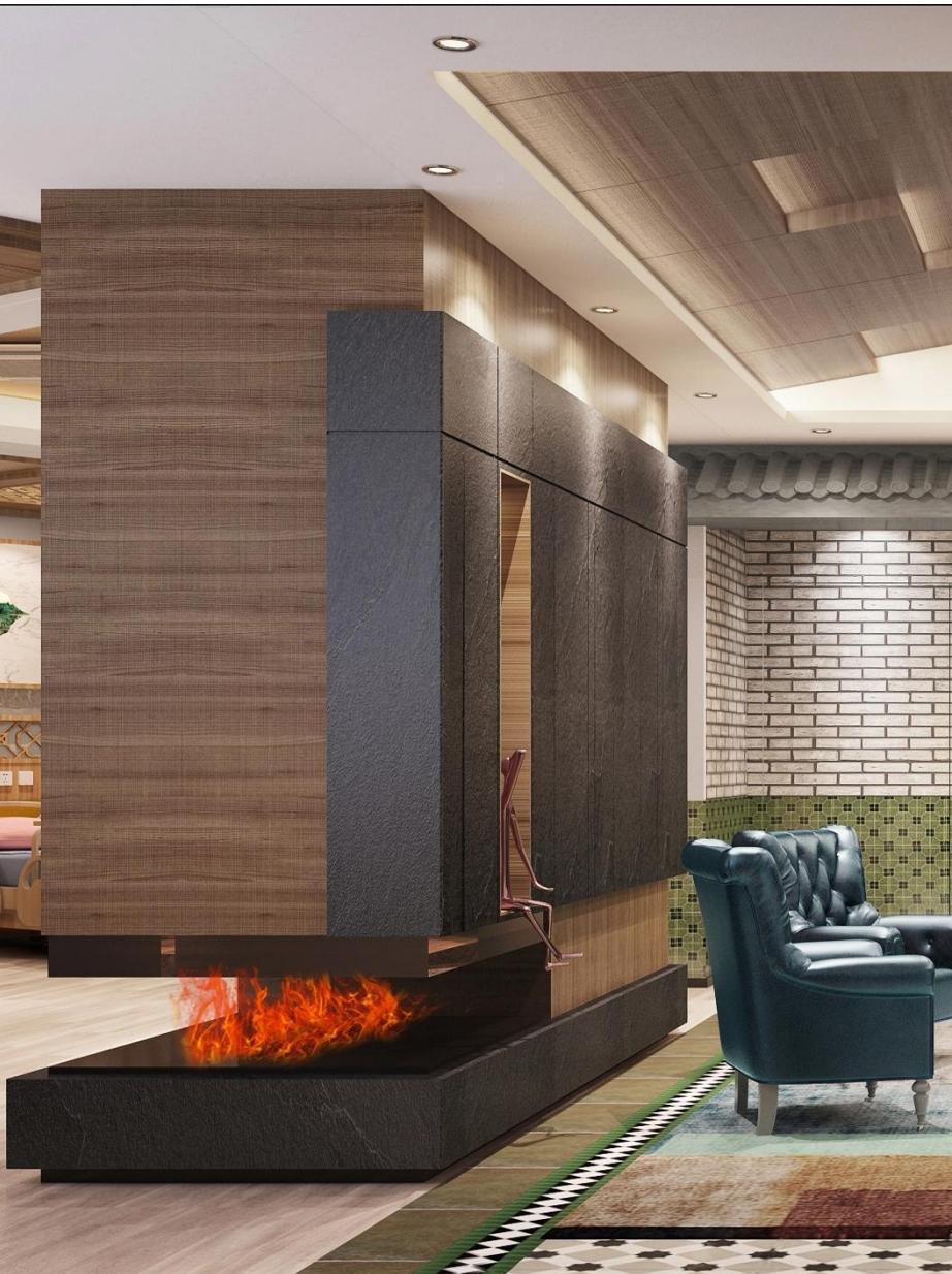 Luzern Boulevard, Kwu Tung  3D fireplace 2