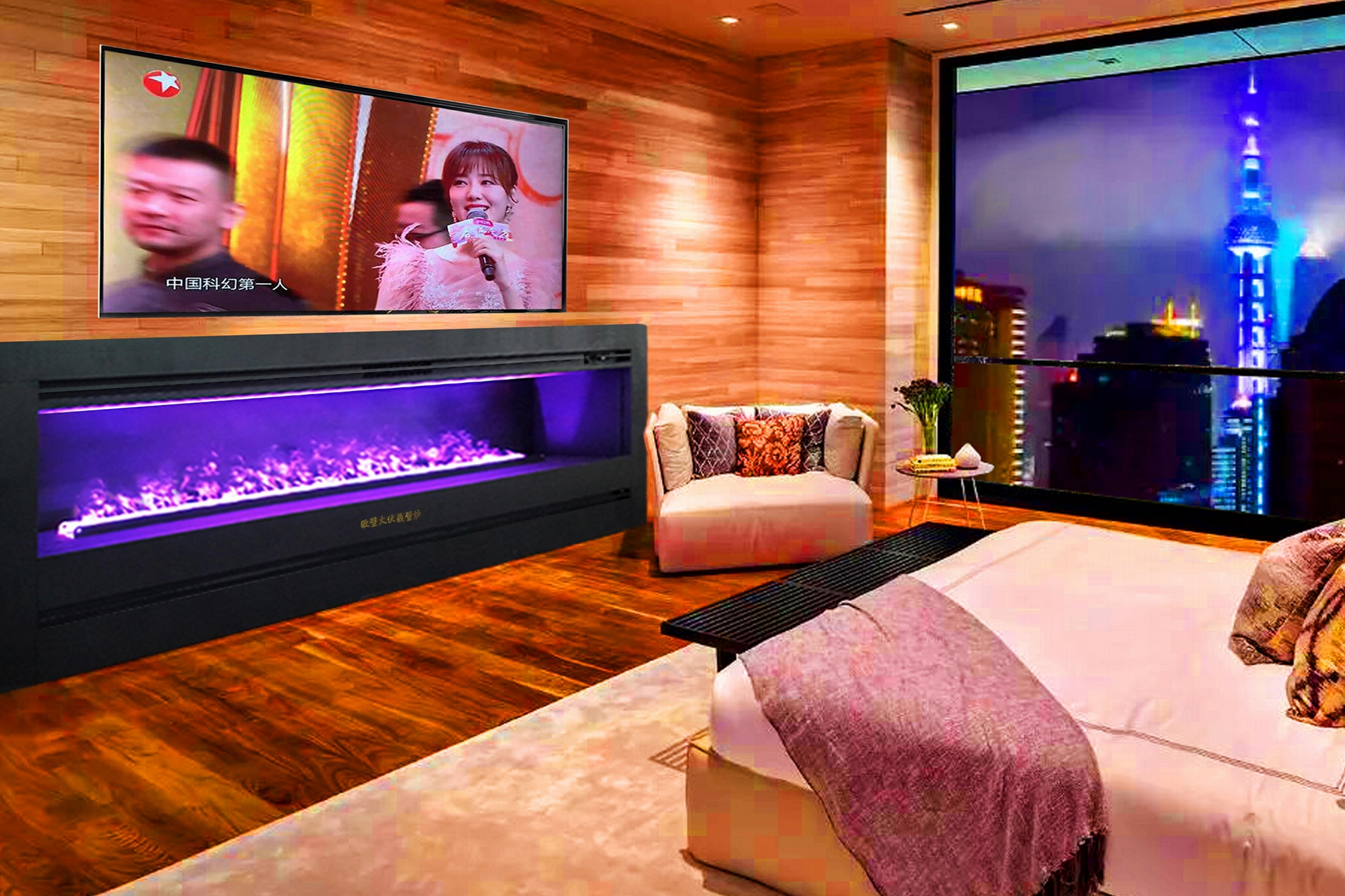 Any shape, dimension fireplace TH Series 2