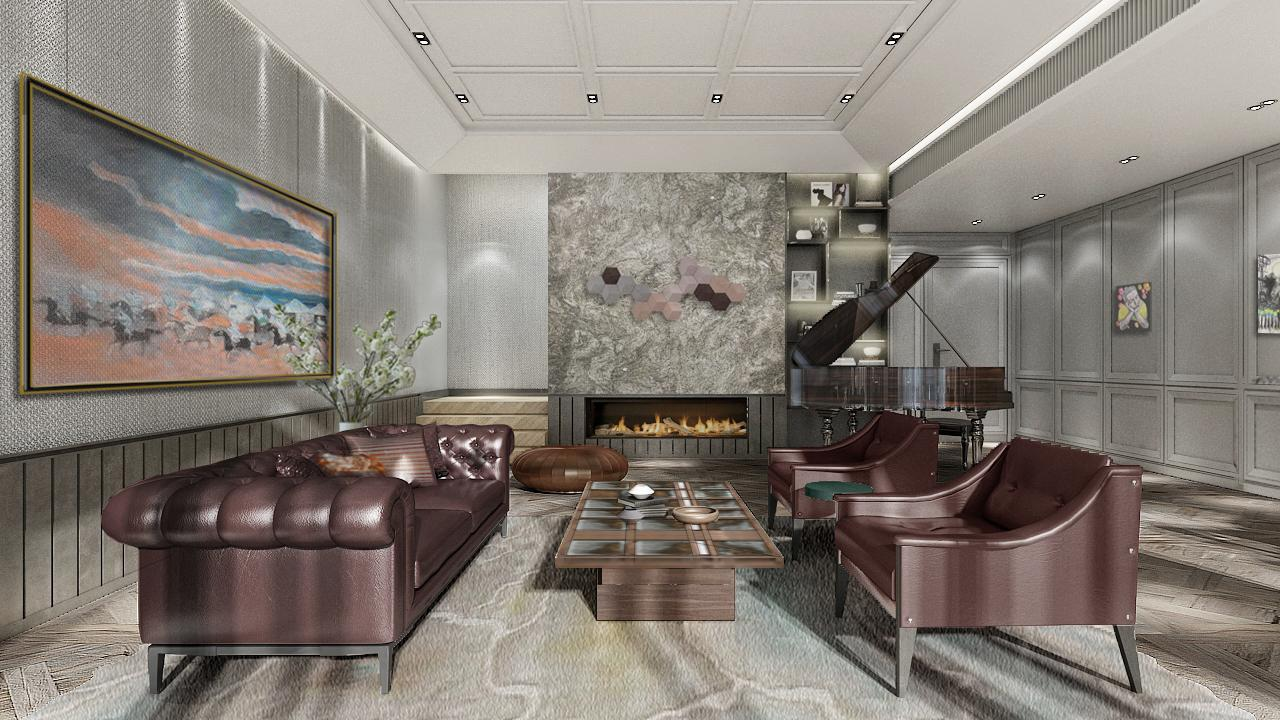 3D Bare finish water electric fireplace 4