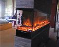 信和大嶼山長沙電子壁爐--兩面觀火案例 7